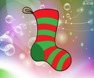 Puzle Vánoční Ponožka