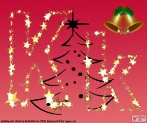 Puzle Vánoční pozadí, písmeno K