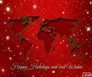 Puzle Vánoční pozdrav, mapa