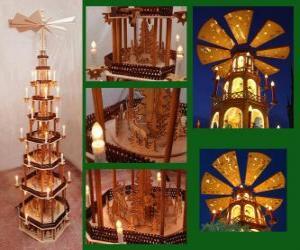 Puzle Vánoční pyramida