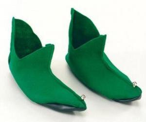 Puzle Vánoční skřítek boty