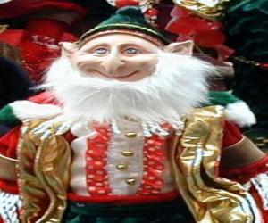 Puzle Vánoční skřítek se špičaté uši a špičatý klobouk