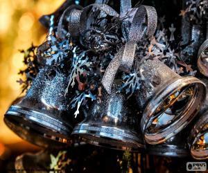 Puzle Vánoční stříbrné zvonky