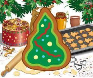Puzle Vánoční strom, Vánoční cukroví
