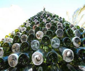 Puzle Vánoční strom z recyklovaných lahví 5000