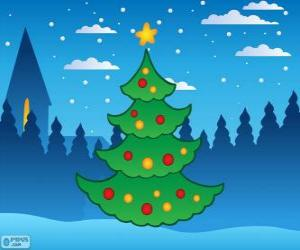 Puzle Vánoční strom
