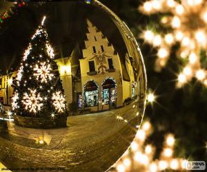 Puzle Vánoční stromeček reflexe