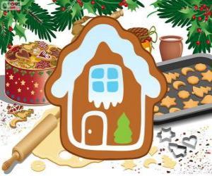 Puzle Vánoční sušenky dům ve tvaru