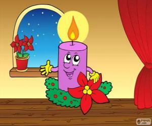 Puzle Vánoční svíčka s úsměvem