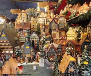 Puzle Vánoční trh, ozdoby