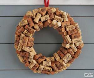 Puzle Vánoční věnec s zátky