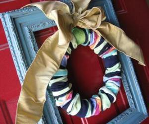Puzle Vánoční věnec z ponožky
