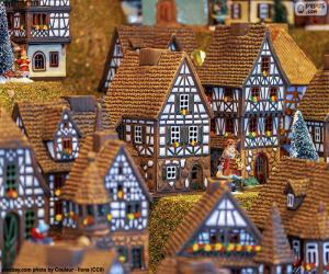 Puzle Vánoční vesnička