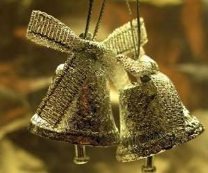Puzle Vánoční zvony se stuhami