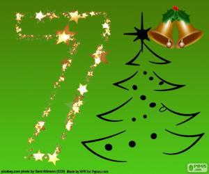 Puzle Vánoce, číslo 7
