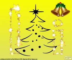 Puzle Vánoce a písmeno I