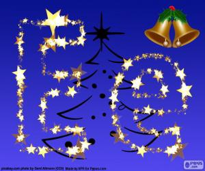 Puzle Vánoce s písmenem E