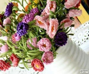 Puzle Váza s velkou kyticí