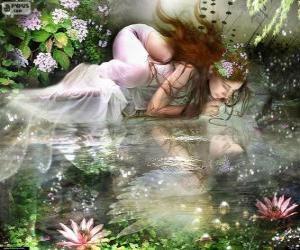 Puzle Víla Ondina, jsou vodní nymfy velkolepé krásy
