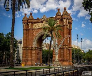 Puzle Vítězný oblouk, Barcelona