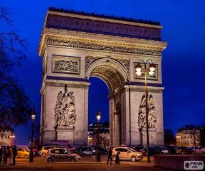 Puzle Vítězný oblouk, Paris