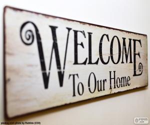 Puzle Vítejte v našem domě