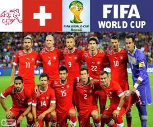 Puzle Výběr Švýcarsko, skupina E, Brazílie 2014