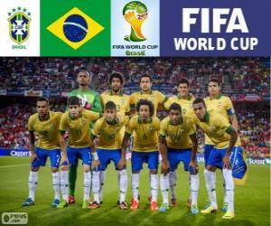 Puzle Výběr Brazílie, skupina A, Brazílie 2014