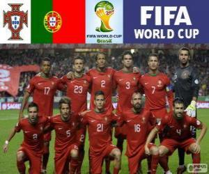 Puzle Výběr Portugalska, skupina G, Brazílie 2014