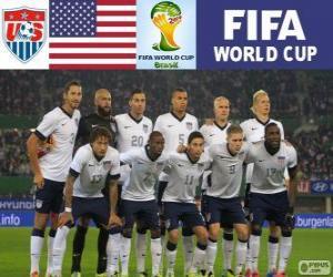 Puzle Výběr Spojených států, skupina G, Brazílie 2014