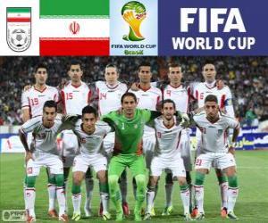Puzle Výběr z Íránu, skupina F, Brazílie 2014