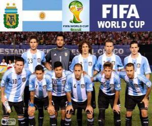 Puzle Výběr z Argentiny, skupina F, Brazílie 2014