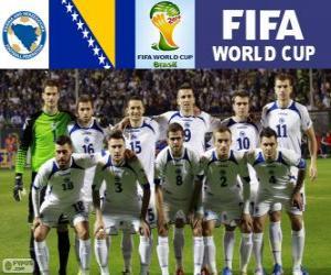 Puzle Výběr z Bosny a Hercegoviny, skupina F, Brazílie 2014