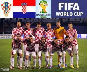 Puzle Výběr z Chorvatska, skupina A, Brazílie 2014