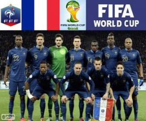 Puzle Výběr z Francie, skupina E, Brazílie 2014