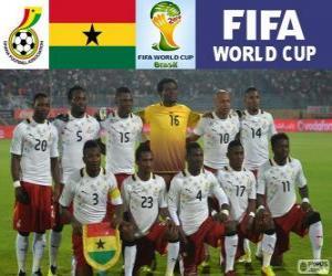 Puzle Výběr z Ghany, skupina G, Brazílie 2014