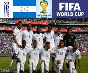 Puzle Výběr z Hondurasu, skupina E, Brazílie 2014