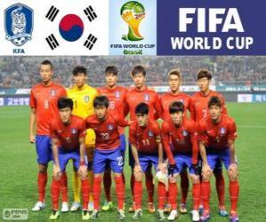 Puzle Výběr z Jižní Koreje, Skupina H, Brazílie 2014