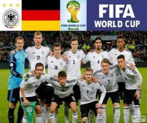Puzle Výběr z Německo, skupina G, Brazílie 2014