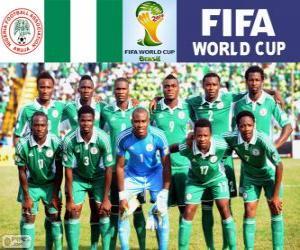 Puzle Výběr z Nigérie, skupina F, Brazílie 2014