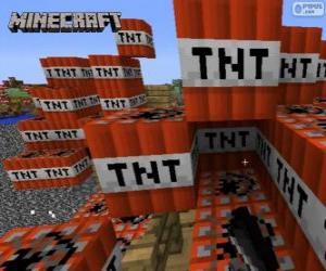 Puzle Výbušné blok TNT Minecraft