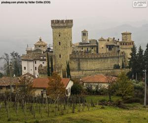 Puzle Výraz Vigoleno hrad, Itálie