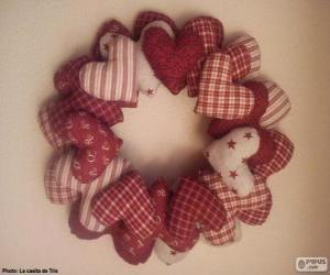 Puzle Věnec vánoční věnec