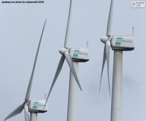 Puzle Větrné turbíny