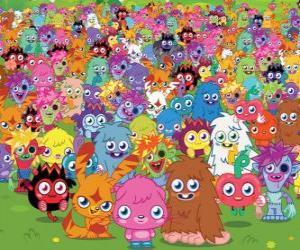 Puzle Všechny příšery z Moshi Monsters