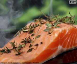 Puzle Vaření losos