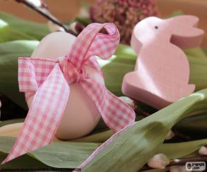 Puzle Vajíčko a Velikonoční zajíček
