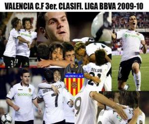 Puzle Valencia CF třetí. Utajované Liga BBVA 2009-2010