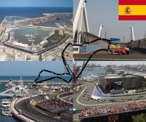 Puzle Valencia Street Circuit - Španělsko -