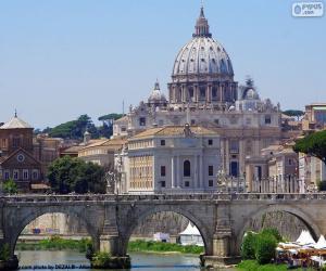 Puzle Vatikán, Řím, Itálie